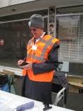 The Organiser checking the England v New Zealans score!